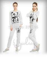 new panda costume 3d print sport suit women fashion brand design sports suit active animal tracksuits sweatshirt+pants one set
