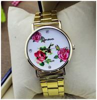 Brand New Women Lady Fashion Diamond Crystal Golden Watches Women Dress Watch Ladies Wristwatch