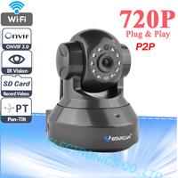 Vstarcam Plug Play H.264 ONVIF Multi-stream WPS Wireless HD Megapixel WIFI IP Camera Two Audio And Night Vision