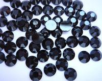 1000PC Black 5MM Rhinestone Flat Flatback Acrylic Faceted Scrapbooking