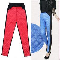 2015 new autumn winter spring women down pants keep warm trousers rhombus pattern  velvet pants 4 colors option women pants