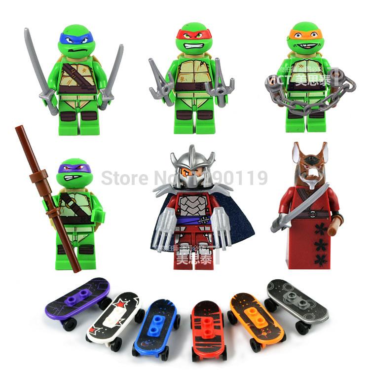 Детская игрушка DECOOL 6pcs TMNT Ninjago Lego DC0051-0056 tmnt 12 90545
