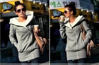 2014 Fashion women hoody fleece novelty cardigans European hoodies sweater coat casual sweatshirt moleton feminino free shipping