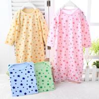 6Month- 3 Years Baby long-sleeved high-grade bamboo fiber envelope baby child robe clothing underwear sleeping wear pijamas kids