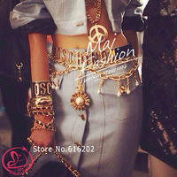 fashion necklaces for women 2014 vintage pearl jewelry waist chain pendant necklace women statement necklace colar choker luxury