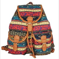 New Arrival Ladies Women's Retro Canvas Backpack Rucksack Girls School HEC Shoulder Bag Free Shipping
