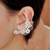 SE559 Fashion new hot Retro Crystal Cloud Ear Cuff Earring Wrap Clip On For Right Ear Earrings for women
