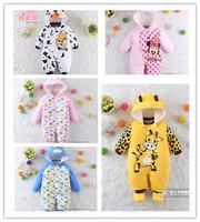 2014New winter baby animal style overalls infant newborn boys girls cotton rompers meninos roupas de bebe clothes jumpsuit