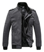 Free Shipping, 2014 New Style Design Fashion Men Jacket, Stand-up Collar Outwear, Men's Jacket, Drop Shipping, MWJ021