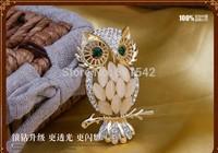 2014 Newest fashion Birds design Europe style women's Crystal Brooch, hijab pins