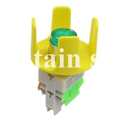 AC 220V Green Light Illuminated Latching Locking Push Button Switch 660V 10A(China (Mainland))