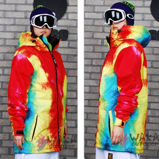 Tie Dye Suit Mens Suit Tie-dyeing Snowboard