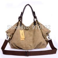 new canvas handbag 2014 Korean fashion leisure wild diagonal big bag