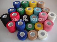 wholesale Adhesive Bandage/Non Woven Cohesive Elastic Bandage /Medical Elastic PBT Bandage 5cm*4.5m free shipping by SG POST
