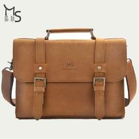2014 Sale Direct Selling Vintage Handbag Guarantee 100% Crazy Horsehide Rugged Style Cowhide Men Her Handbag Leather Men's Bags