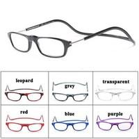 Wholesale 20pcs/lot Multi-color Magnetic Reading Glasses Folding Reader Glasses Neck Hanging Eye Glasses Free Shipping