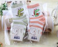 Free shipping ( 12 pairs/lot ) cotton Baby socks rubber slip-resistant floor socks cartoon small kid's socks baby