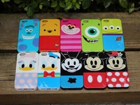 2014 Newest Cartoon Mickey Minnie Mouse Donald Duck Winnie cell phone Case Cover For iPhone 5 5s iPhone5s phone Housing