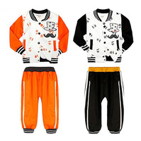 Free Shipping 2014 New Arrival Boys Sports Clothing set Baby magician Suits Kids Embroidery Coats + Pants Cartoon Clothes sets