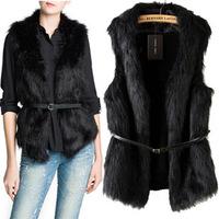 New 2014 women autumn and winter luxury fur vest coat fashion fur vest vintage colete pele coat free shipping