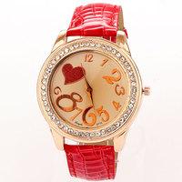 Newest Best Rhinestone Watches For Women reloj de piel Watch Luxury Quartz Clock PU Leather Free Shipping Drop Shipping