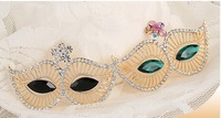 Newest Fashion Europe Style Masks Shape Women's Crystal Brooches, Hijab Pins