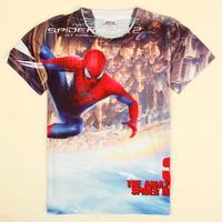 Nova 2014 New Fashionable vetement enfant ,kids boys clothes spiderman boy's t shirt Nova  kids boy menino