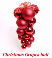 21 pcs/lot Xmas Grapes ball 30 cm length Christmas decoration gift suitable for Christmas meeting celebration display