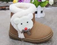2014 winter snow boots plus velvet baby boy skid  Foot long 14 ~ 15.5cm