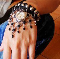 Fashion fashion luxury pendant genuine leather strap watch women's bracelet watch ladies watch