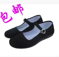 Wholesale free shipping lady old Beijing black cloth shoes hotel work order shoes goosegrass casual and comfortable shoes