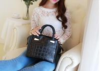 Fashion  High Quality Women's Crocodile Leather Bolsas Femininas Couro Handbags Messenger Bag Ladies Satchel Bags