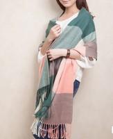 2014 New Fashion Women's Winter Thick Plaid  Keep Warm Shaw Scarf Wrap 613202