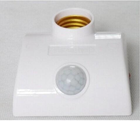 4pcs/lot e27 led light base bulb motion sensor lamp holder 3 years warranty LED PRI electric light socket lamp cap(China (Mainland))
