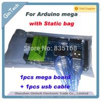 MEGA2560 R3 AVR board,  MEGA 2560 REV3 ATmega2560, 16U2 + USB Cable compatible arduino free shipping