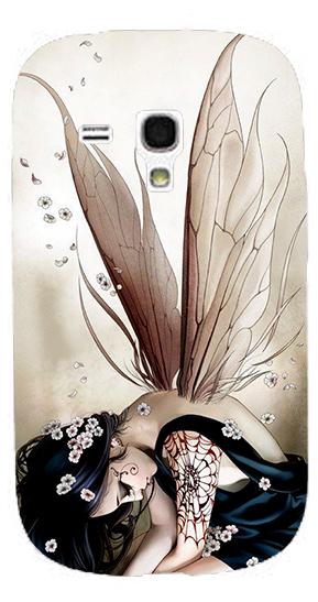 1PC Elegant semi transparent wings angel girl mobile phone cases clear plastic back cover skin For