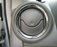 Free shipping 2010  March ABS Chrome Air conditioning adornment Air conditioning outlet Cover Trim