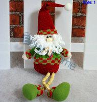 Wholesale Christmas decorations snowman Santa Claus deer cloth dolls Christmas gift 20pcs/lot mixed style free shipping