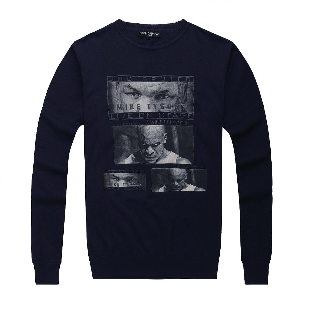 man fall 2014 knitwear fashion leisure 3 d printing casual wear clothes keep warm sweater