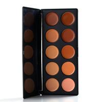 New 2014 Fashion Makeup Primer Women 10 Color Makeup Cosmetic Contour Concealer Tone Cream Make Up Cream Palette