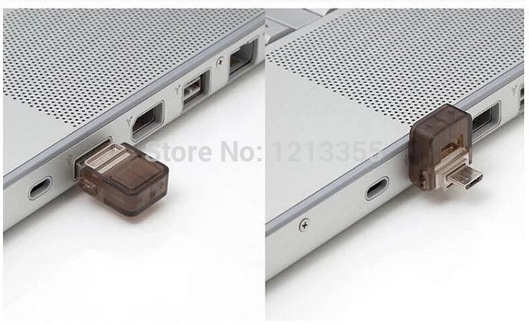 Hot!! Capacity pendrive mini usb flash drive 100% 64 gb usb flash drive double plug metal OTG MINI Smart phone pen drive 64gb(China (Mainland))