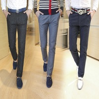 New winter han edition stretch cotton straight men pants menswear business cultivate one's morality men's casual pants