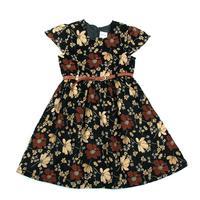NOVA kids wear baby girls party dresses new fashion 2014 with flowers and belt girl summer dress black vestidos infantis
