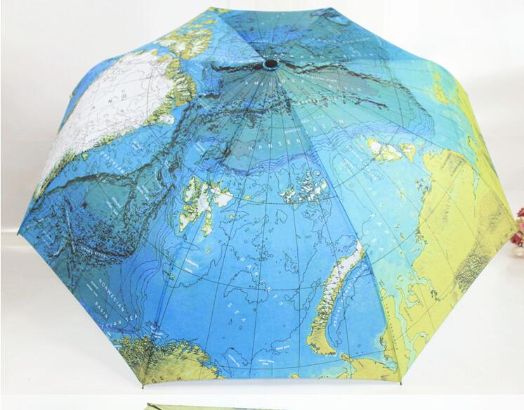 2014 Top de moda completa automática e anti ultravioleta guarda-chuva dobrável guarda-chuva dobrável guarda-chuva superfície criativos mapa(China (Mainland))