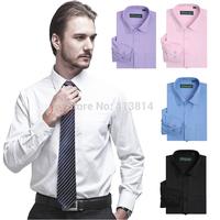 High Quality Men's brand shirt Mens Long sleeve dress shirt men Classic easy care business Twill shirts Spring Autumn Wear