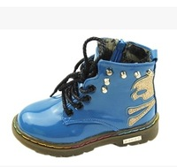 2014 autumn boys fashion rivet Martin boots leather shoes  Foot long 16 ~ 18.5cm