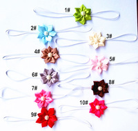 Factory Direct Mixed Color Tiny Satin Flower Infant Baby Headband/Baby Hairband You choose Color