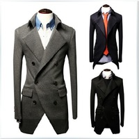 New 2014 Autumn And Winter Men Suit Jacket Fashion Casual Pure Color Men Brand Suit Jacket Free Shipping Promotions
