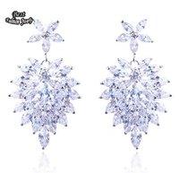 Hot Selling Anti-fatigue Crystal Zircon Earring Women Fashion Drop Earring ZC026ER