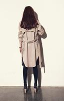 Women's wear loose khaki windbreaker XL XXL XXXL European style
